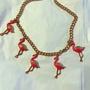 Flamingo statement necklace - PERFECT FOR SPRING:)